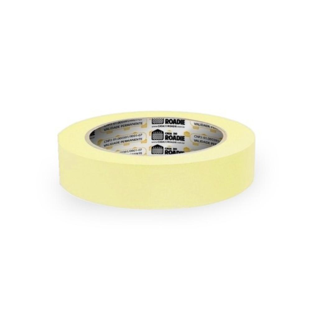 Fita de Papel Crepe Colorida Casa do Roadie 24mm X 40m Amarela Clara  - Casa do Roadie