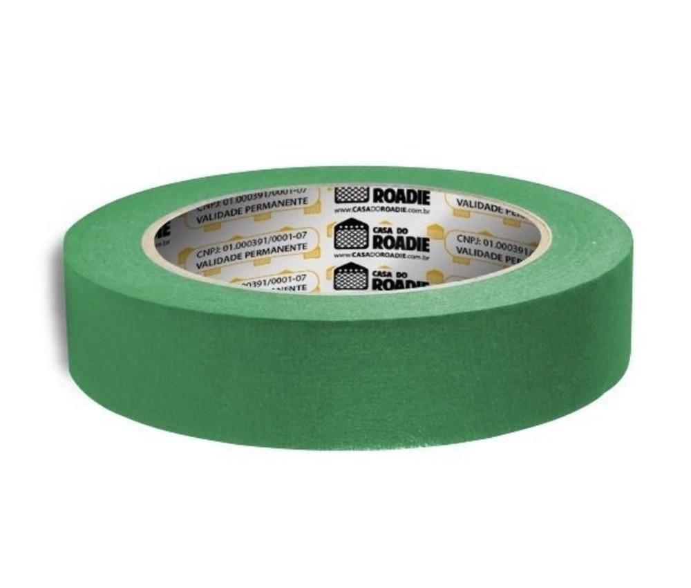 Fita de Papel Crepe Colorida Casa do Roadie 24mm X 40m Verde  - Casa do Roadie