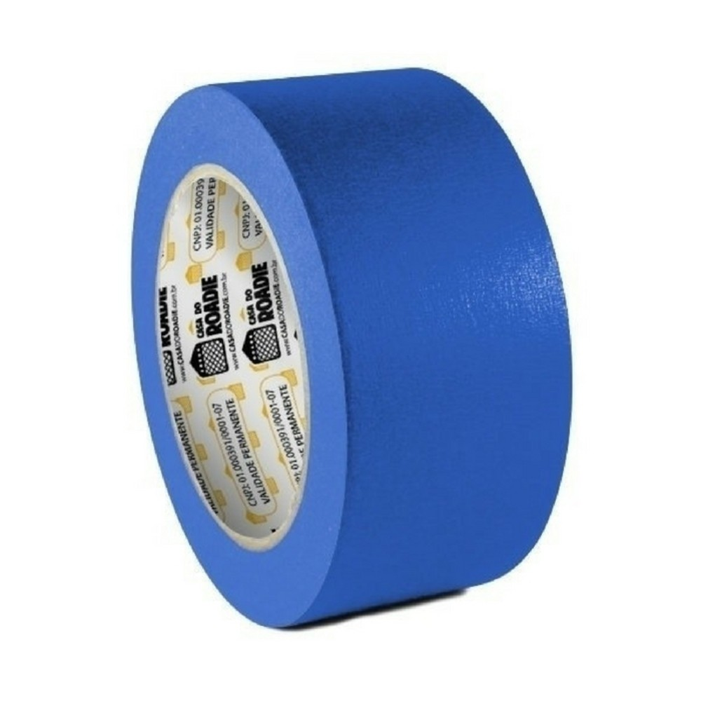 Fita de Papel Crepe Colorida Casa do Roadie 48mm X 20m Azul