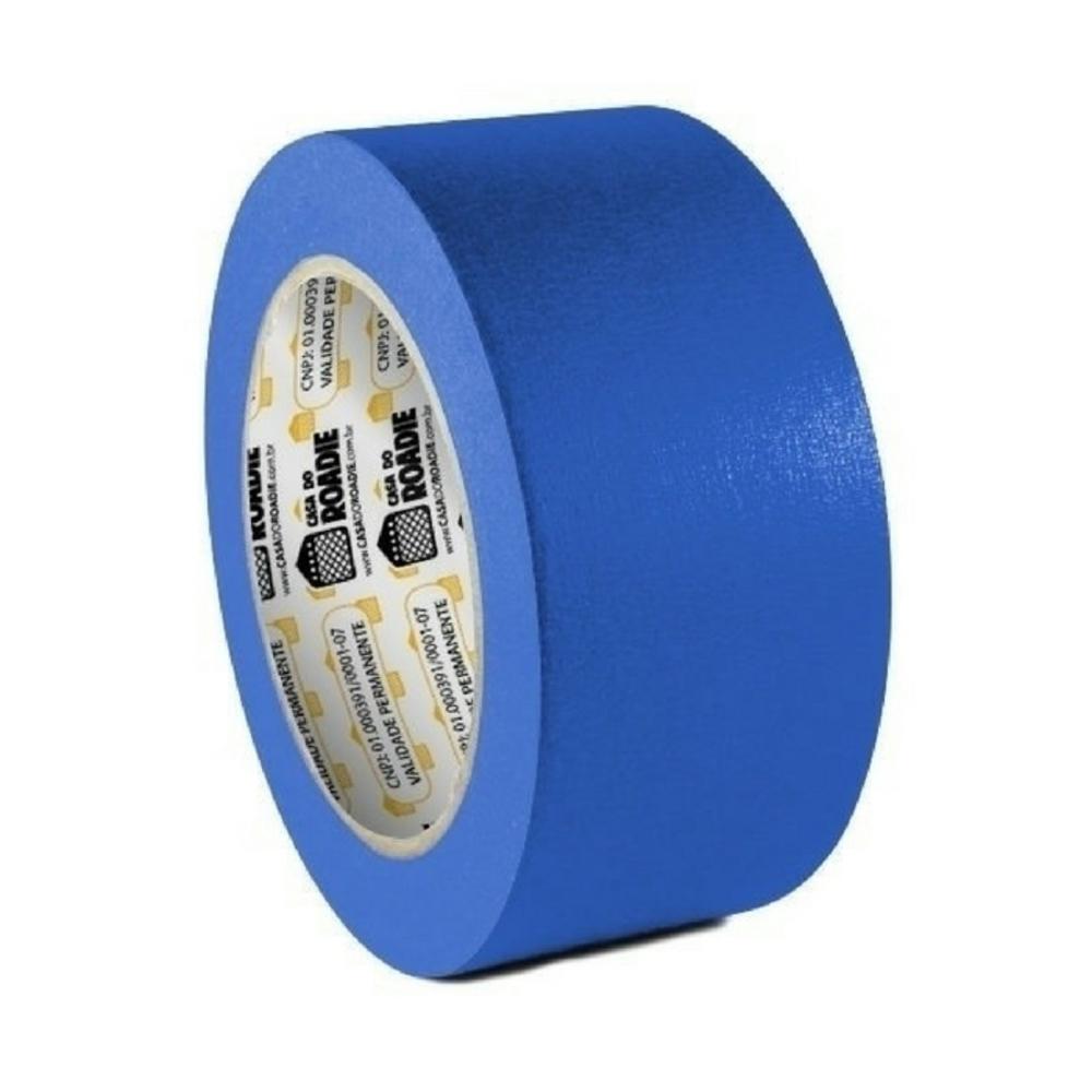 Fita de Papel Crepe Colorida Casa do Roadie 48mm X 20m Azul