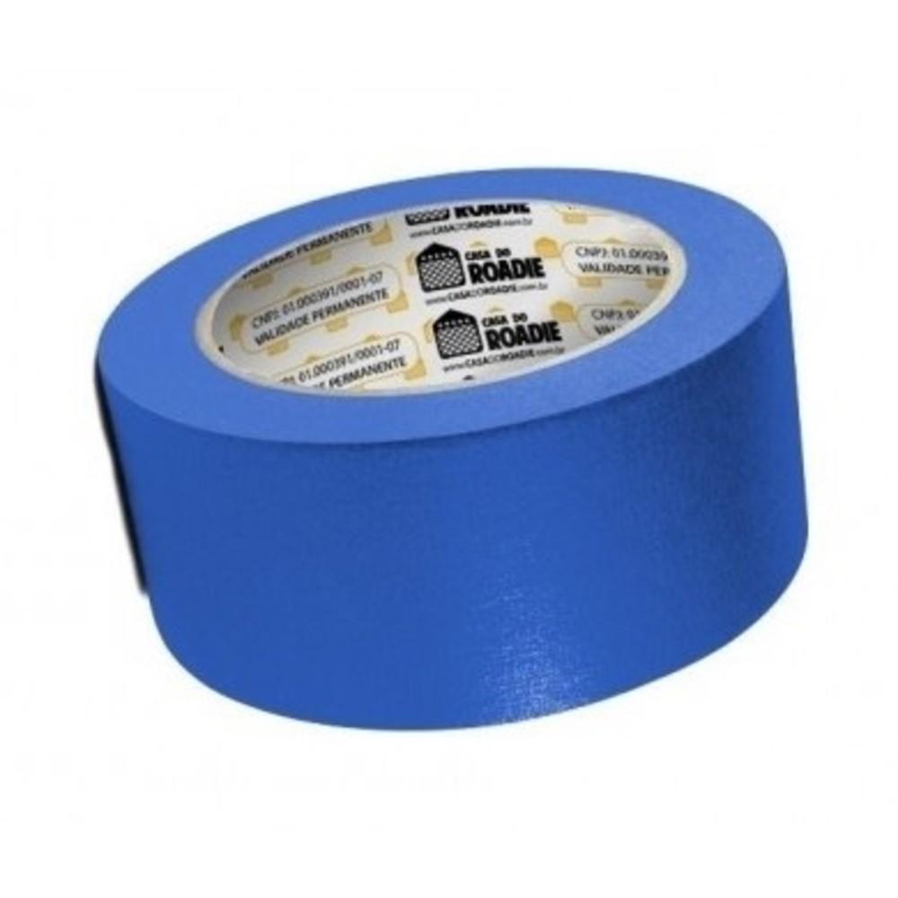 Fita de Papel Crepe Colorida Casa do Roadie 48mm X 20m Azul  - Casa do Roadie