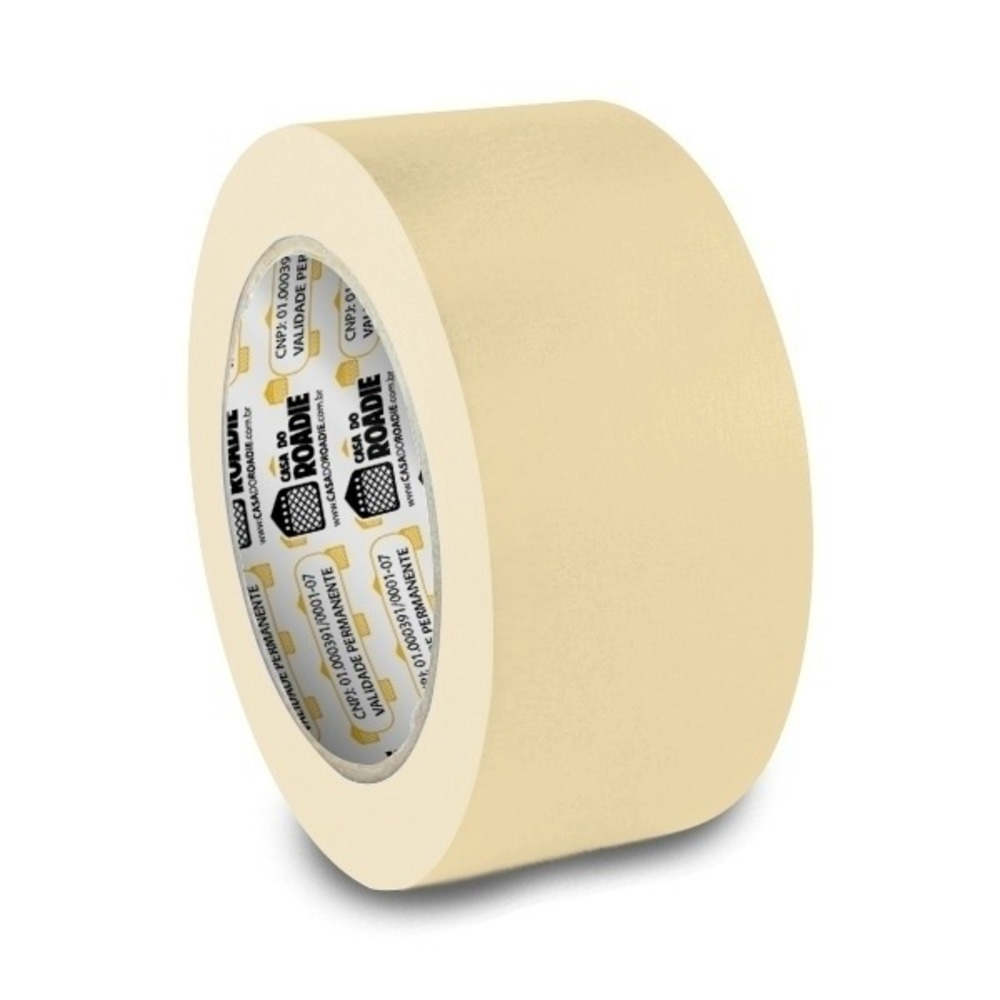 Fita de Papel Crepe Colorida Casa do Roadie 48mm X 20m Bege