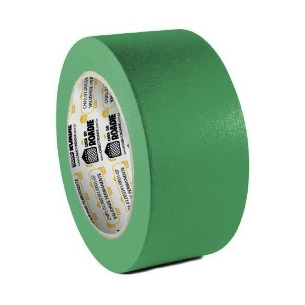 Fita de Papel Crepe Colorida Casa do Roadie 48mm X 20m Verde