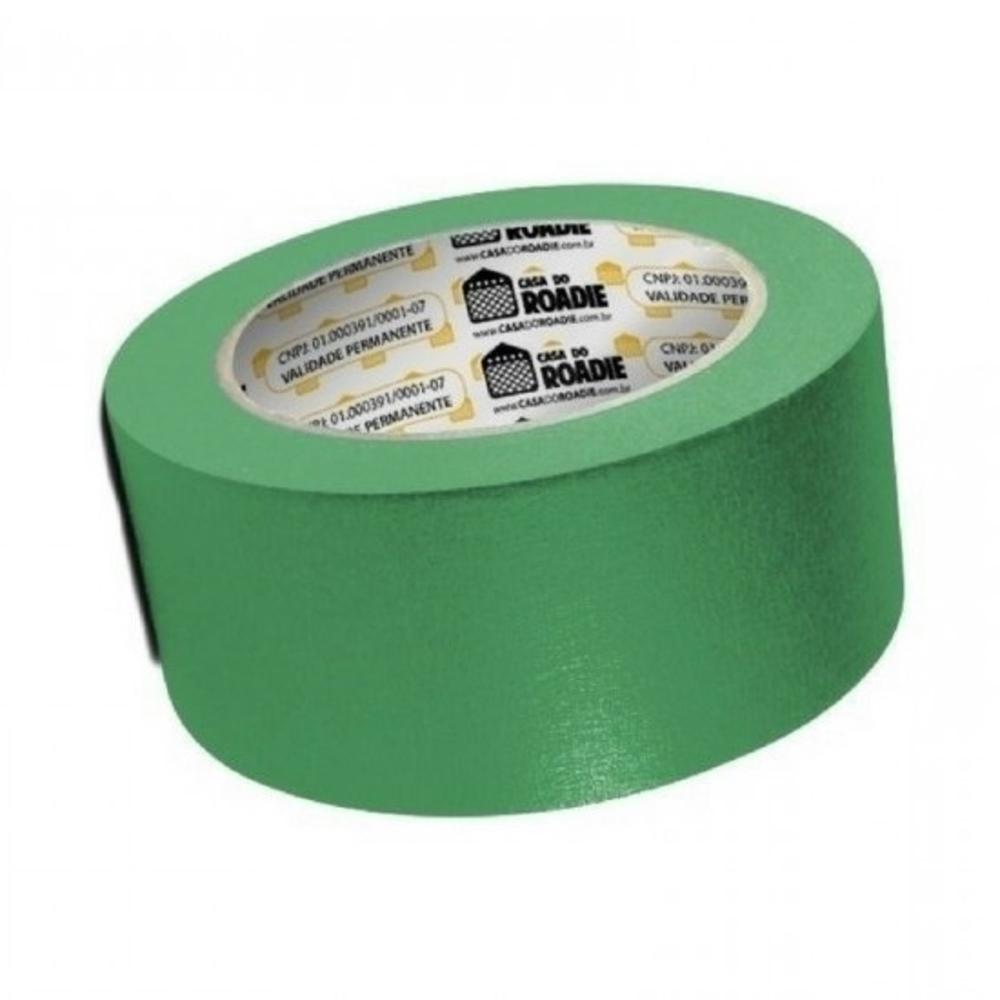 Fita de Papel Crepe Colorida Casa do Roadie 48mm X 20m Verde  - Casa do Roadie