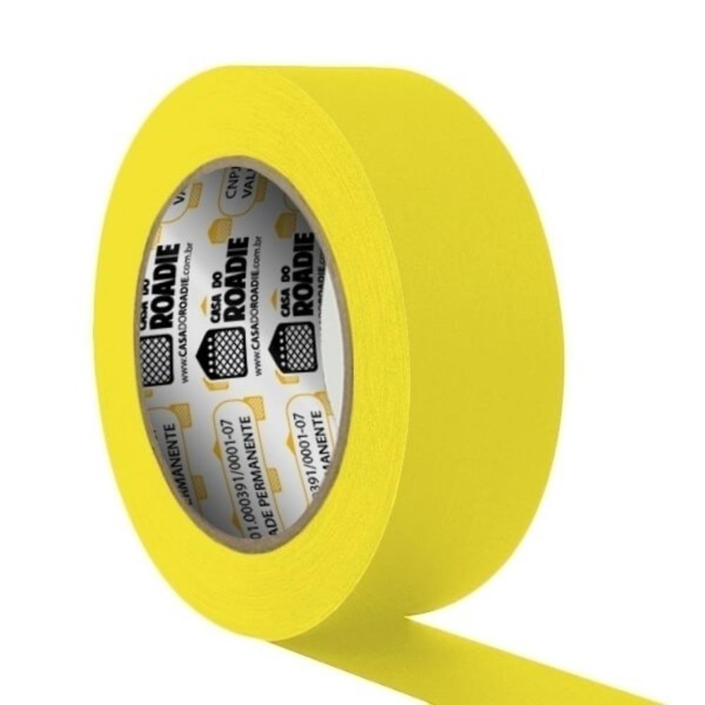 Fita de Papel Crepe Colorida Casa do Roadie 48mm X 40m Amarela  - Casa do Roadie
