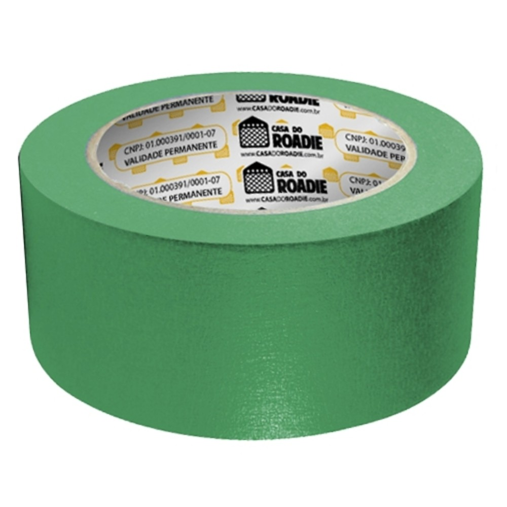 Fita de Papel Crepe Colorida Casa do Roadie 48mm X 40m Verde