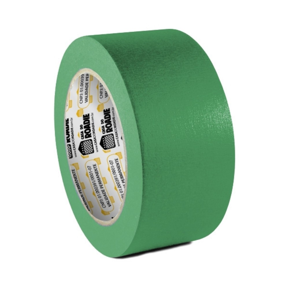 Fita de Papel Crepe Colorida Casa do Roadie 48mm X 40m Verde  - Casa do Roadie