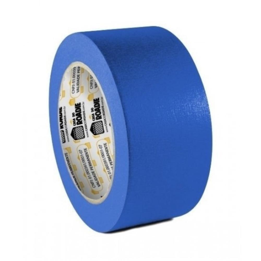 Fita de Papel Crepe Colorida Casa do Roadie 48mm X 50m Azul