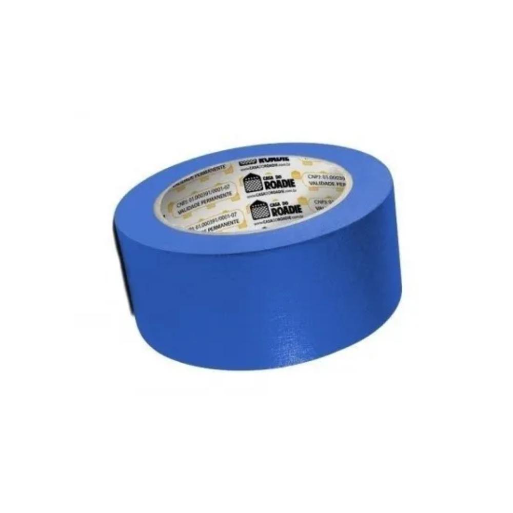 Fita de Papel Crepe Colorida Casa do Roadie 48mm X 50m Azul  - Casa do Roadie