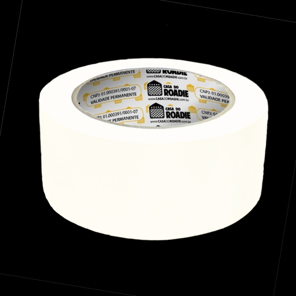 Fita de Papel Crepe Colorida Casa do Roadie 48mm X 50m Branca  - Casa do Roadie
