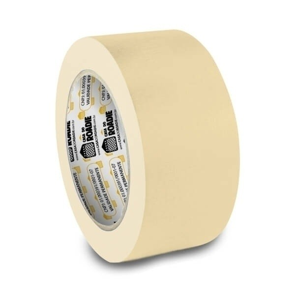 Fita de Papel Crepe Colorida Casa do Roadie 48mm X 50m Creme