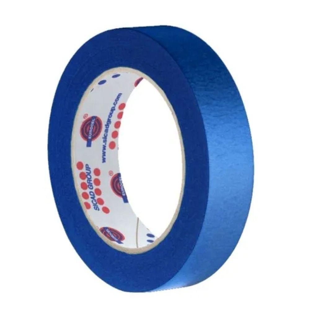 Fita de Papel Crepe Colorida Eurocel 19mm X 20m Azul  - Casa do Roadie