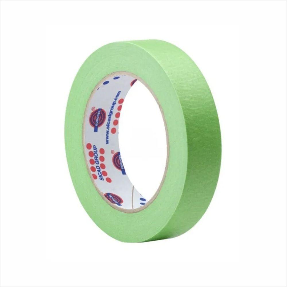 Fita de Papel Crepe Colorida Eurocel 25mm X 50m Verde Claro