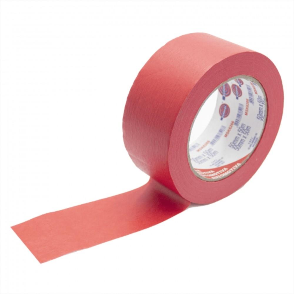 Fita de Papel Crepe Colorida Eurocel 50mm X 50m Vermelha  - Casa do Roadie