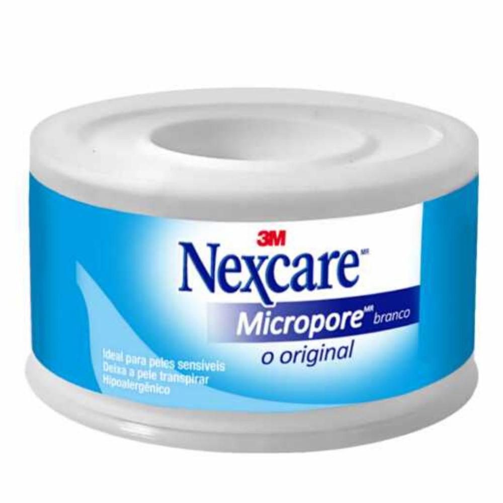 Fita de Papel Microporosa Nexcare 3M 25mm X 4,5m Branco  - Casa do Roadie