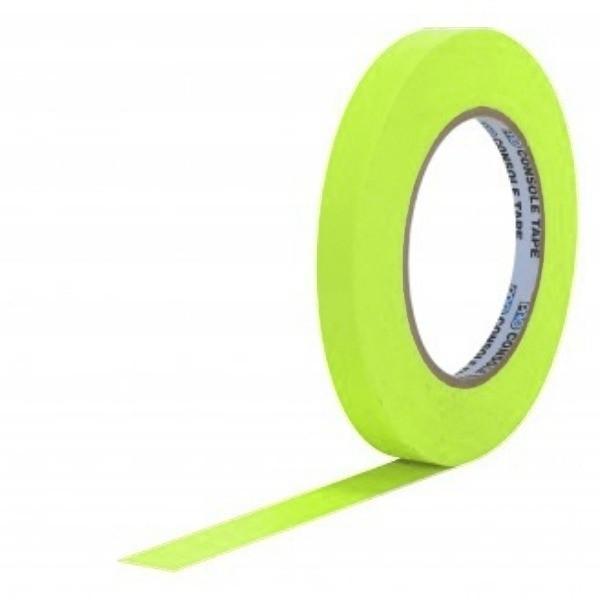 Fita de Papel para Console Artist Tape Pro Tapes 13mm X 50m Amarela Fluor