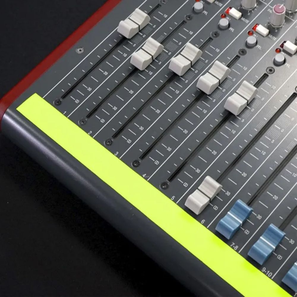 Fita de Papel para Console Artist Tape Pro Tapes 13mm X 50m Amarela Fluor  - Casa do Roadie