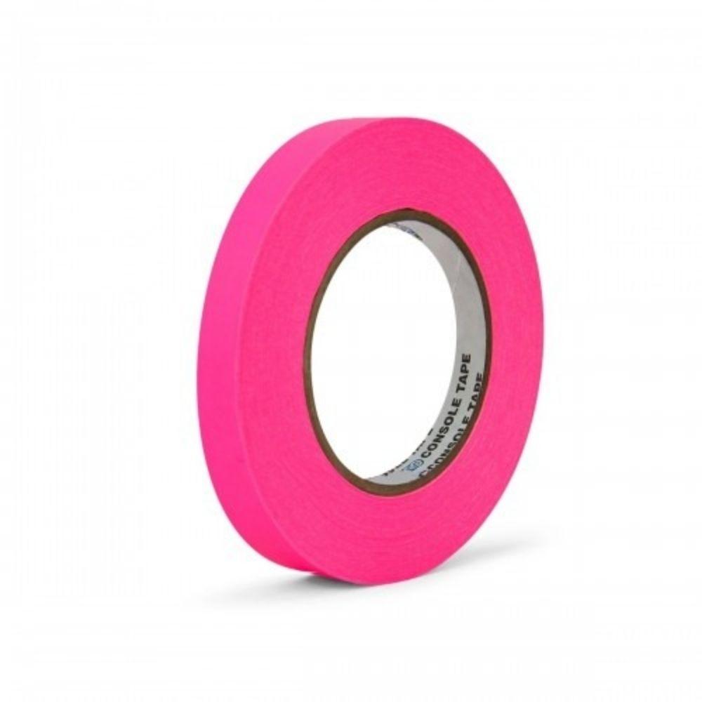 Fita de Papel para Console Artist Tape Pro Tapes 13mm X 50m Rosa Fluorescente