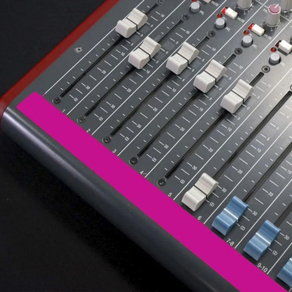 Fita de Papel para Console Artist Tape Pro Tapes 13mm X 50m Rosa Fluorescente  - Casa do Roadie