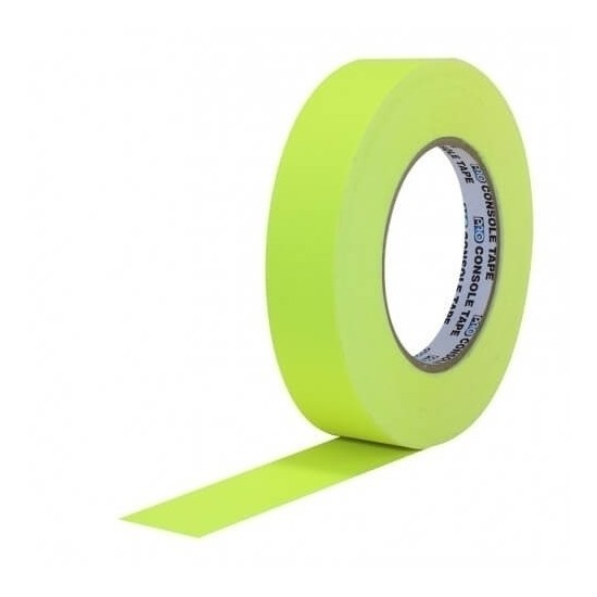Fita de Papel para Console Artist Tape Pro Tapes 24mm X 50m Amarela Fluor