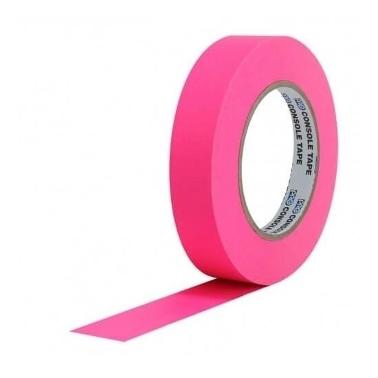 Fita de Papel para Console Artist Tape Pro Tapes 24mm X 50m Rosa Fluor