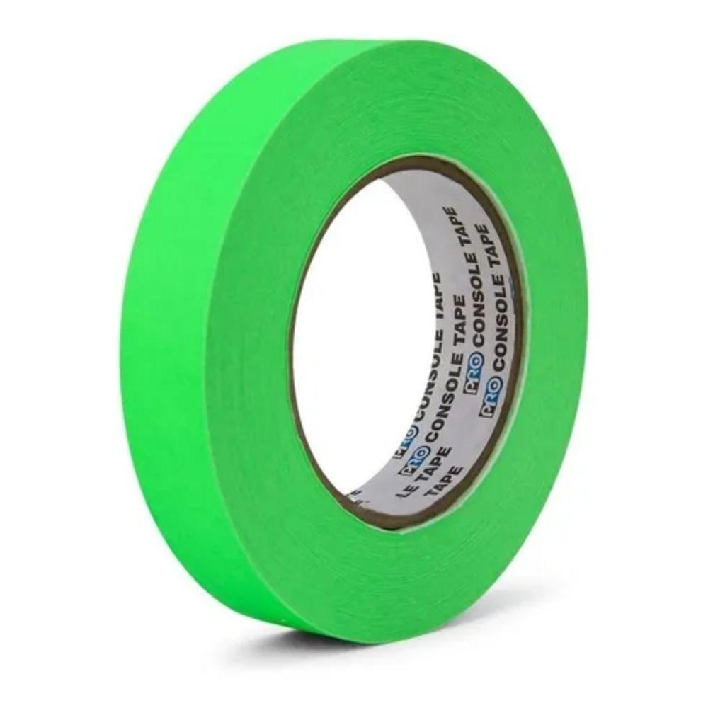 Fita de Papel para Console Artist Tape Pro Tapes 24mm X 50m Verde Fluor