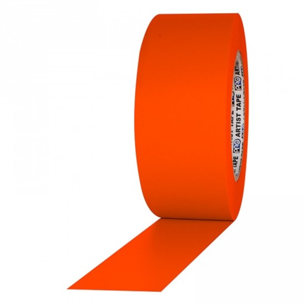 Fita de Papel para Console Artist Tape Pro Tapes 48mm X 50m Laranja Fluor  - Casa do Roadie