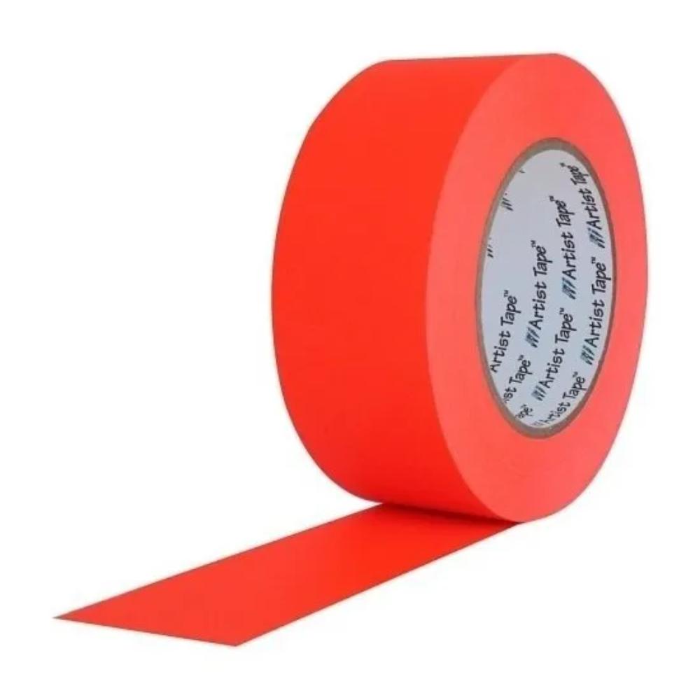 Fita de Papel para Console Artist Tape Pro Tapes 48mm X 50m Laranja Fluor  - Casa do Roadie