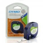 Fita de Papel para Rotulador Letratag Dymo 12mm X 4m Branca com 2  - Casa do Roadie