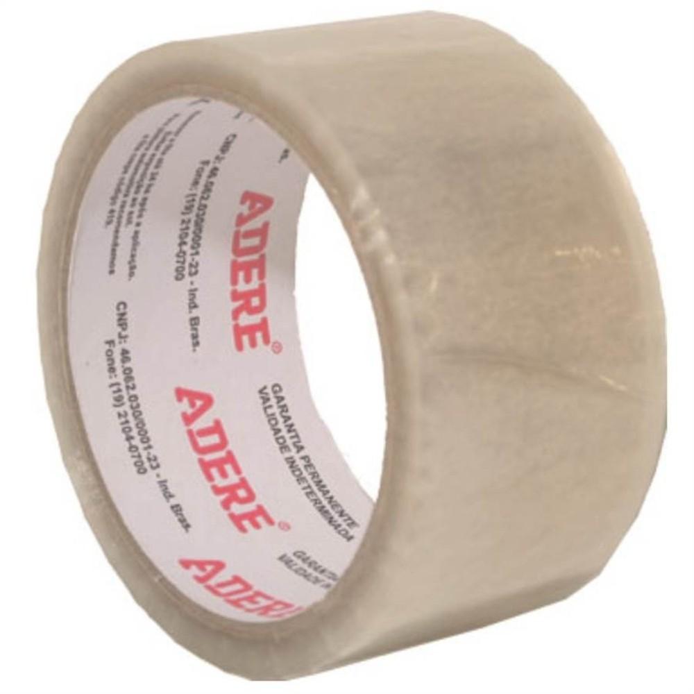 Fita de Plástico para Embalagens Adere 45mm X 45m Transparente