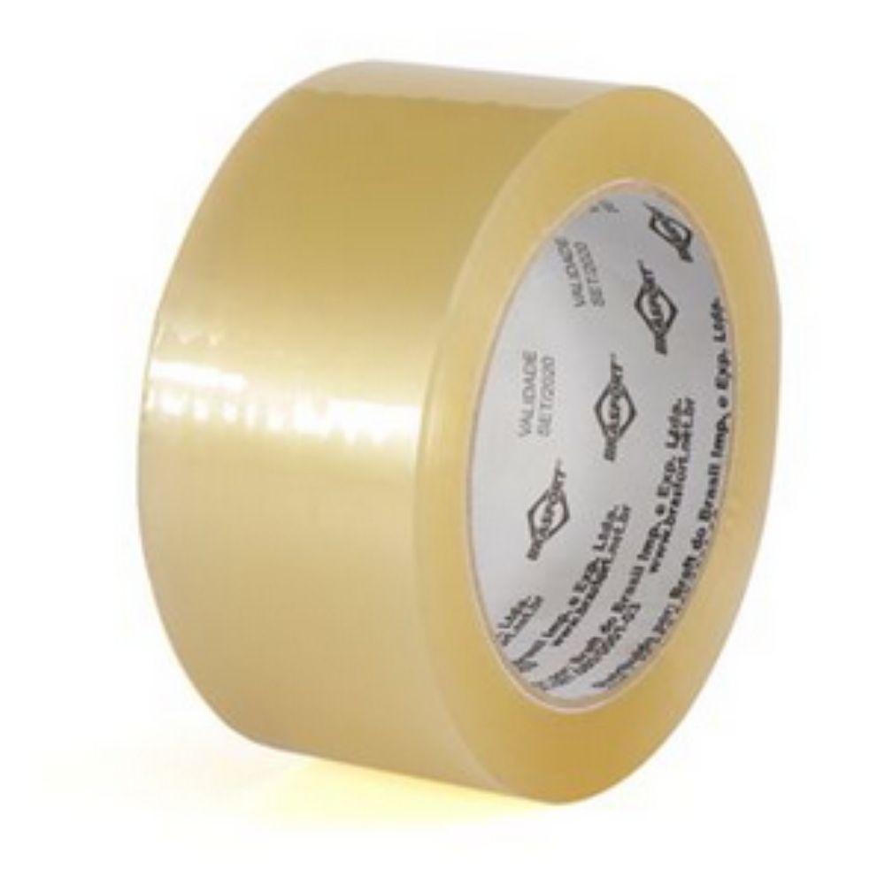 Fita de Plástico para Embalagens Brasfort 48mm X 100m Transparente