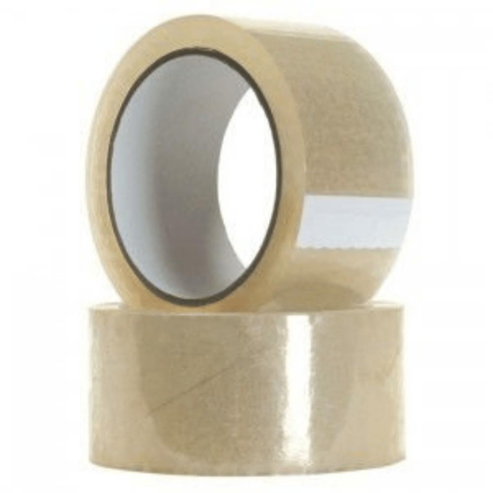 Fita de Plástico para Embalagens Ellofitas 44mm X 50m Transparente