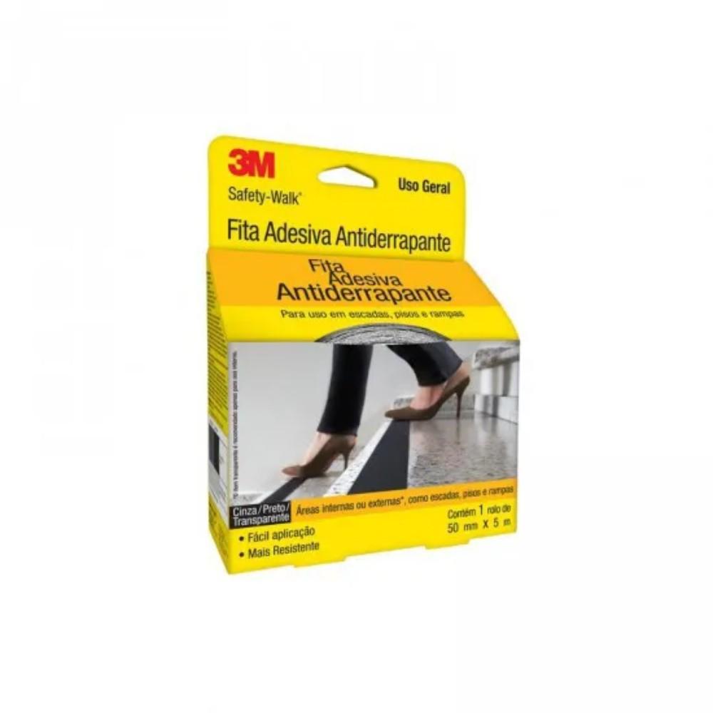 Fita de PVC Antiderrapante Safety-Walk 3M 50mm X 5m Transparente