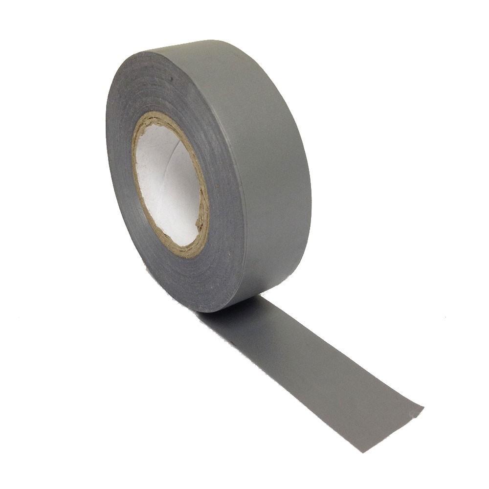 Fita de PVC Isolante 19mm X 20m Cinza  - Casa do Roadie