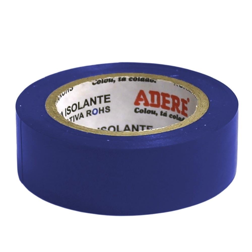 Fita de PVC Isolante Adere 19mm X 10m Azul