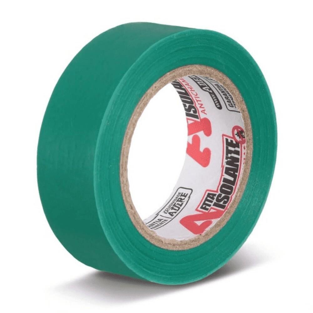 Fita de PVC Isolante Adere 19mm X 10m Verde