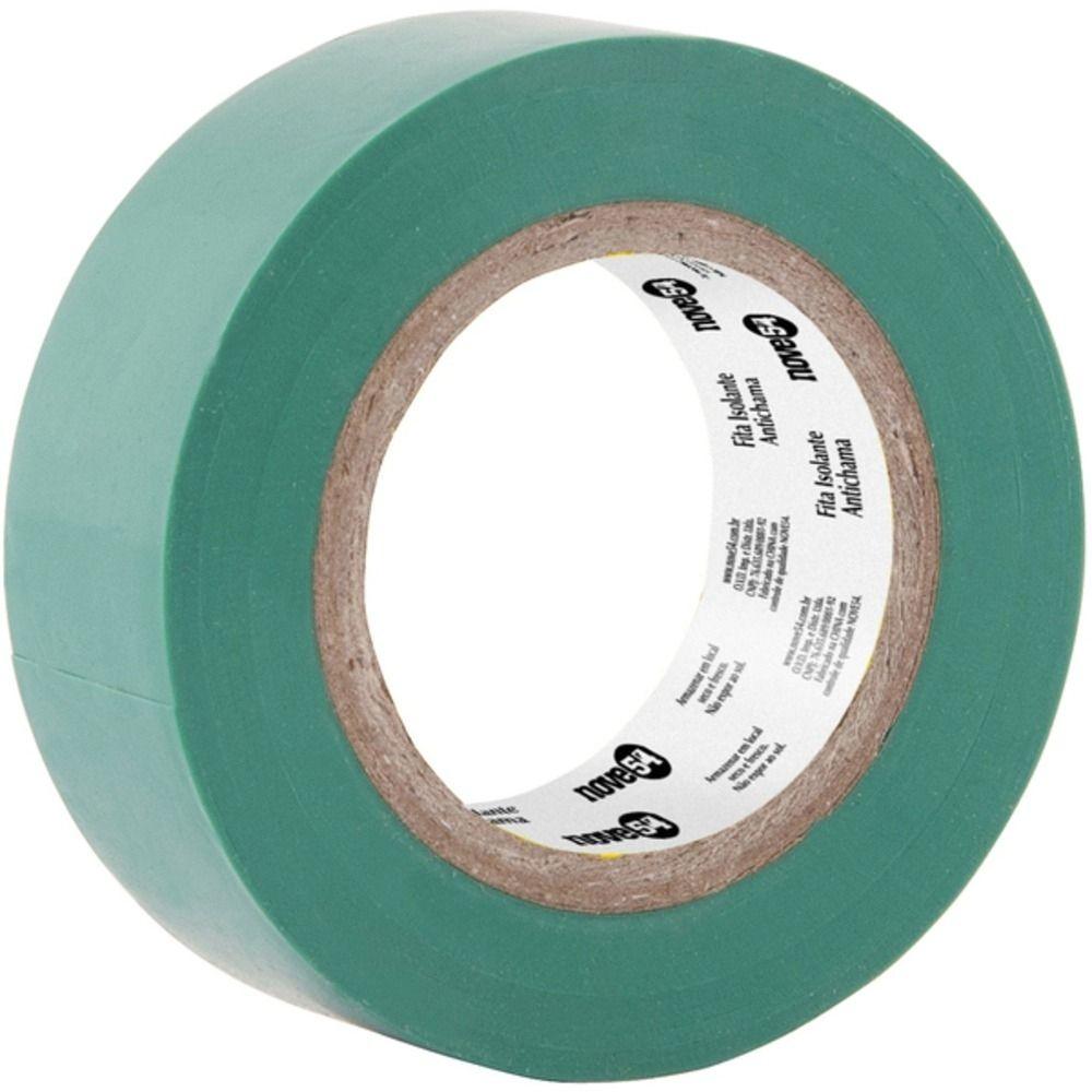 Fita de PVC Isolante Brasfort 19mm X 10m Verde