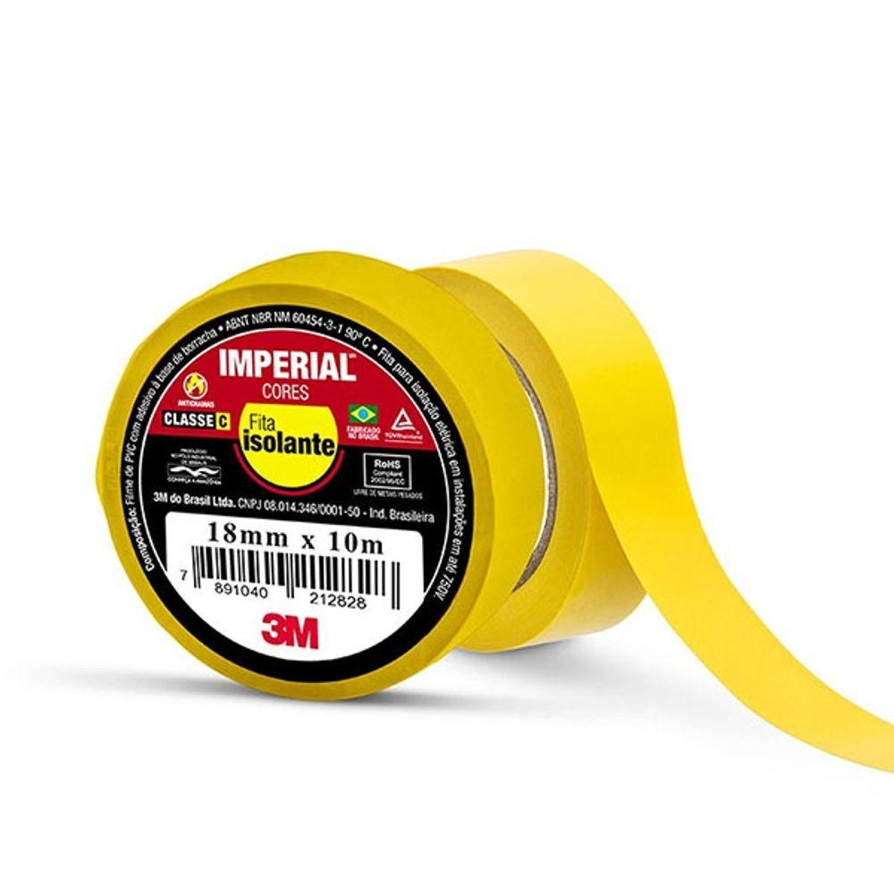 Fita de PVC Isolante Imperial 3M 18mm X 10m Amarela