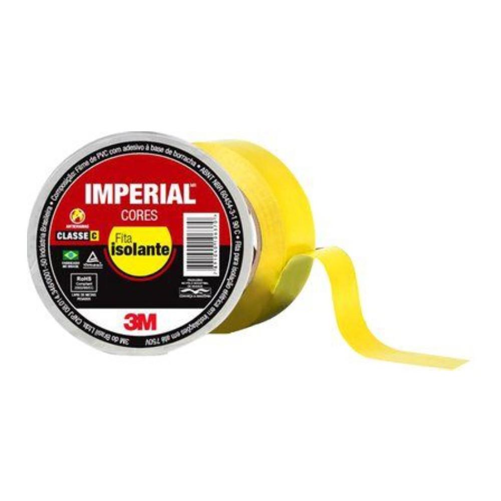 Fita de PVC Isolante Imperial 3M 18mm X 10m Amarela  - Casa do Roadie