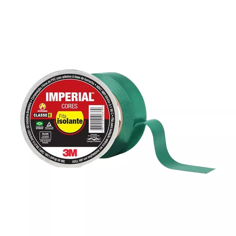 Fita de PVC Isolante Imperial 3M 18mm X 10m Verde