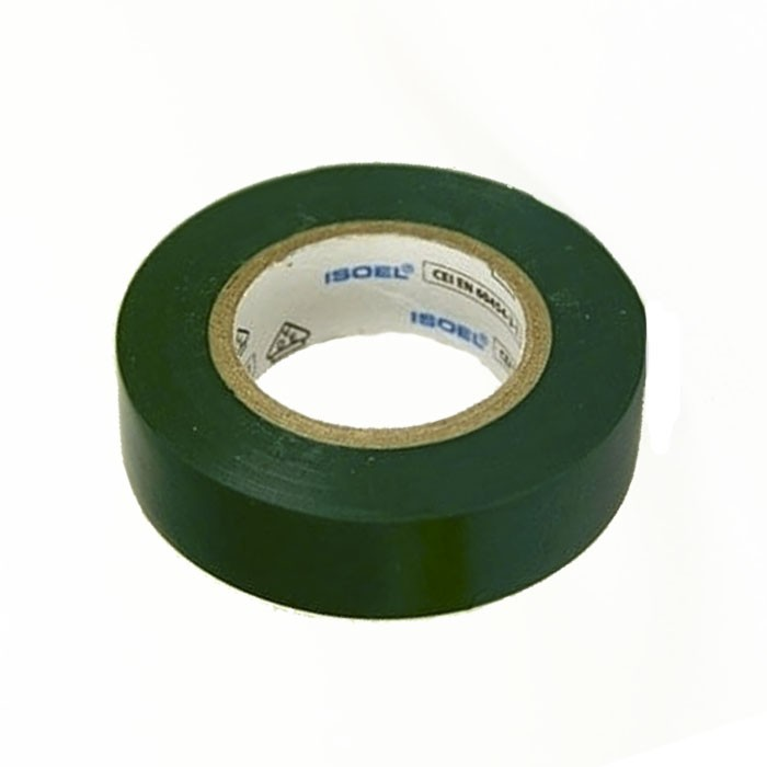 Fita de PVC Isolante ISOEL 15mm X 10m Verde