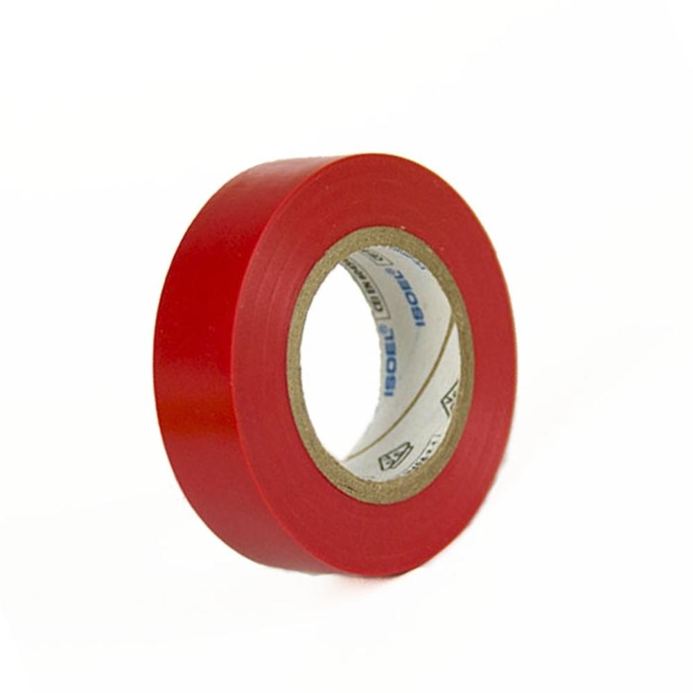 Fita de PVC Isolante ISOEL 15mm X 10m Vermelha  - Casa do Roadie