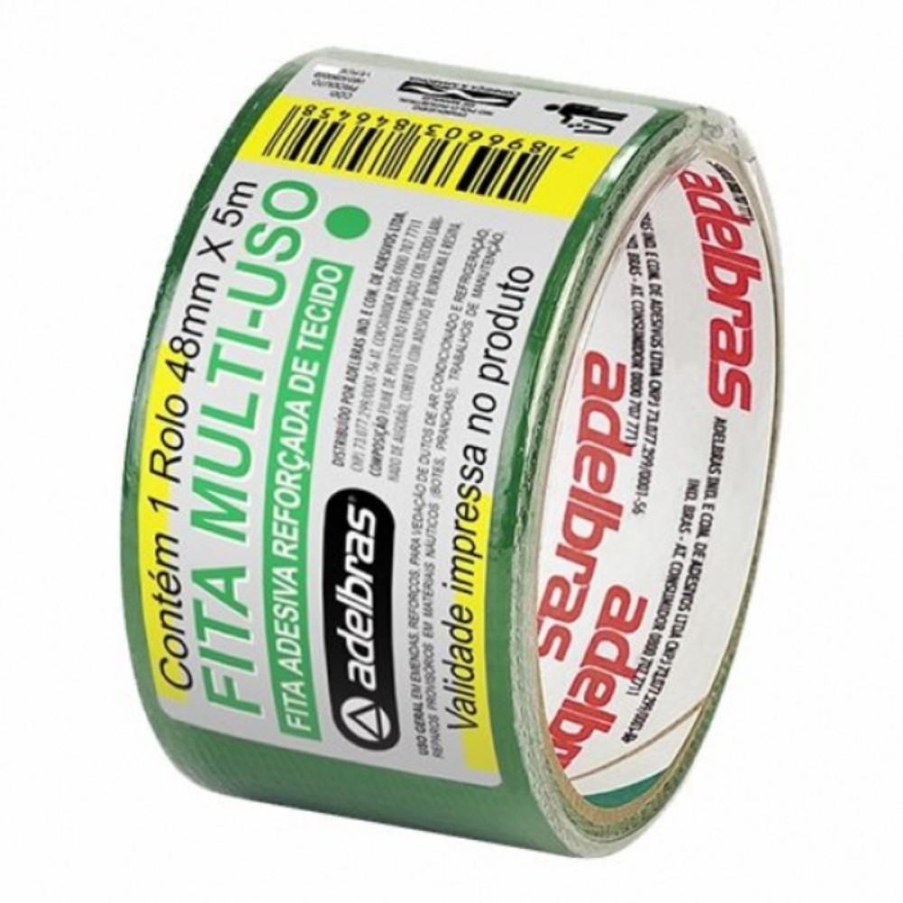 Fita de PVC Multiuso Silver Tape Adelbras 48mm X 5m Verde