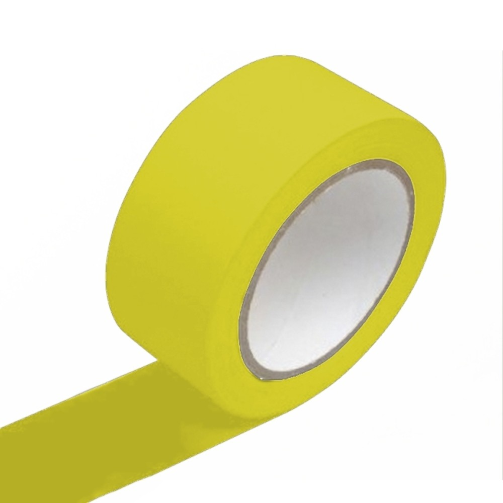 Fita de PVC para Demarcação de Solo Adelbras 48mm X 14m Amarela