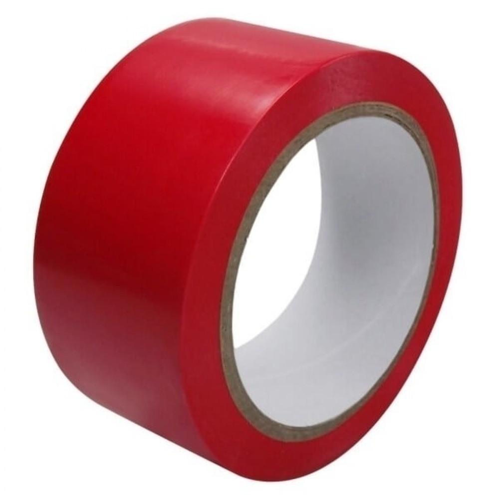 Fita de PVC para Demarcação de Solo Adelbras 48mm X 14m Vermelha
