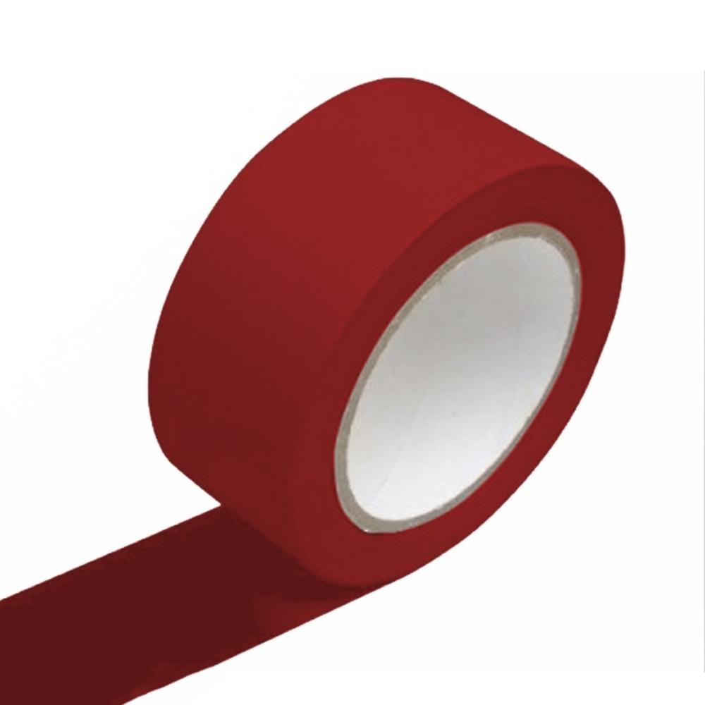 Fita de PVC para Demarcação de Solo Adere 48mm X 15m Vermelha  - Casa do Roadie