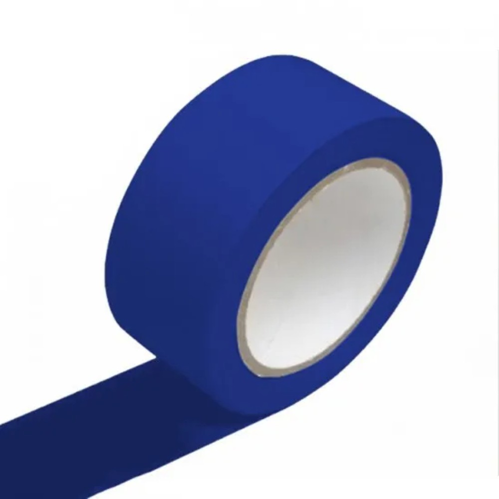 Fita de PVC para Demarcação de Solo Adere 50mm X 30m Azul  - Casa do Roadie