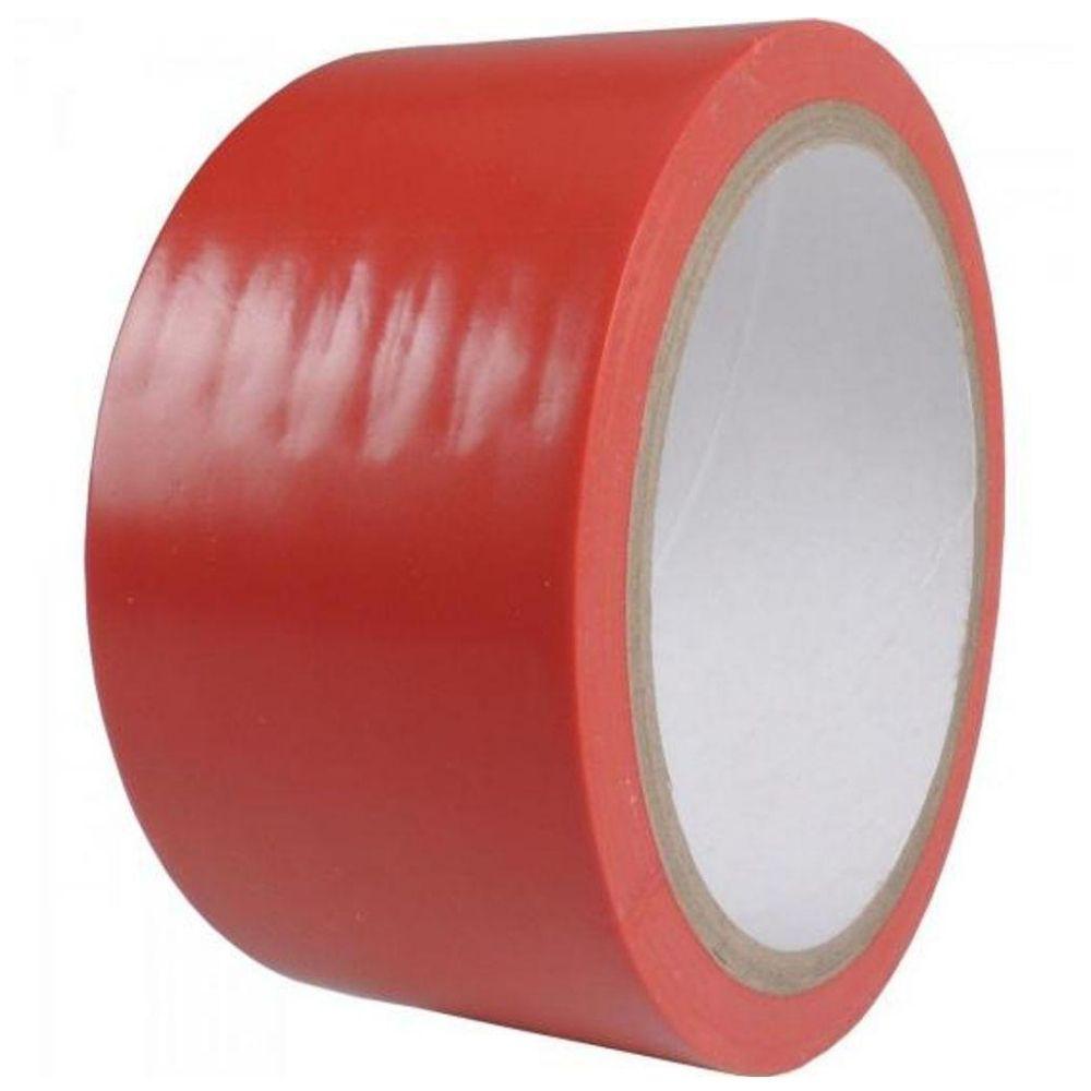 Fita de PVC para Demarcação de Solo Brasfort 48mm X 14m Vermelha  - Casa do Roadie