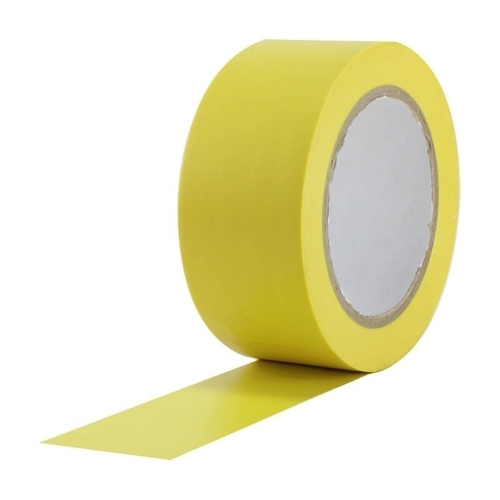 Fita de PVC para Demarcação de Solo Tectape 48mm X 30m Amarela