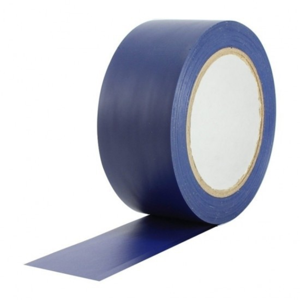 Fita de PVC para Demarcação de Solo Tectape 48mm X 30m Azul